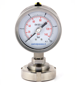 Series MTIRSD bourdon tube pressure gauge with diaphragm DIN 11851