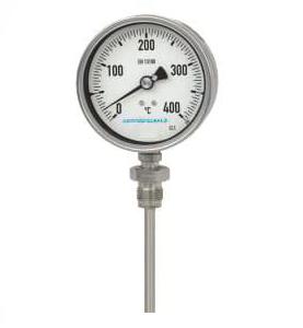Serie TR Termometro Bimetallico Tutto in Acciaio Inox cassa Radiale