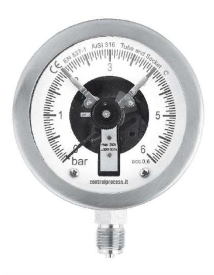 Pressure gauges with electrical contact applications of MTICE series